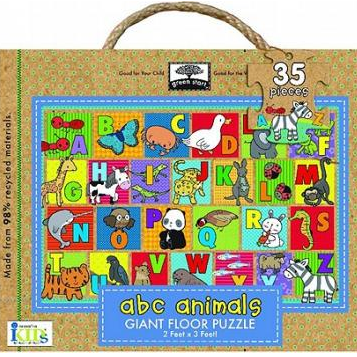 ABC Animals Giant Floor Puzzle by Green Start