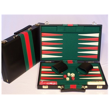 15 inch Vinyl Backgammon Attache Set (k1000) by Puzzles & Games