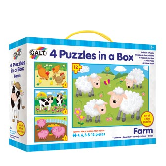4 Puzzles in a Box Farm by Galt