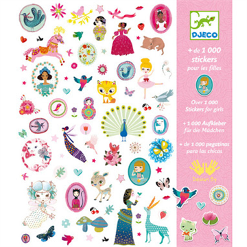 1000 Girl Stickers by Djeco