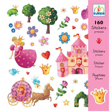 160 Princess Stickers by Djeco