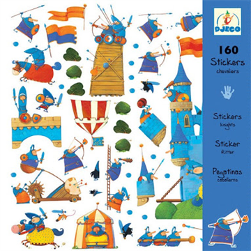 160 Knights Stickers by Djeco