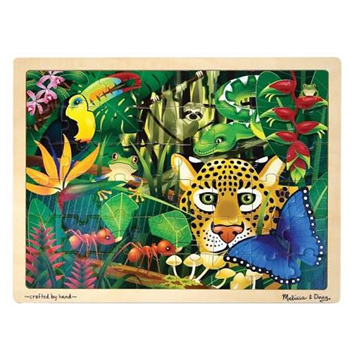 48 Piece Wooden Puzzle Rainforest by Melissa and Doug