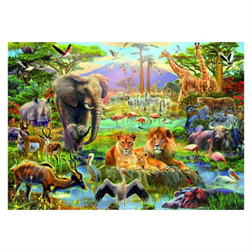 Africa Watering Hole 1500 Piece Puzzle by Educa