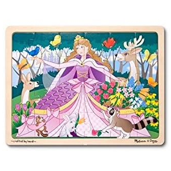 48 Piece Wooden Puzzle Woodland Princess by Melissa and Doug