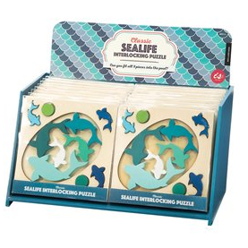 Classic Sealife Interlocking Puzzle by IS Gift