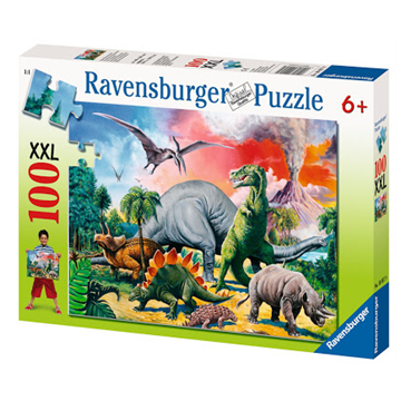 Among the Dinosaurs 100 Piece Puzzle by Ravensburger