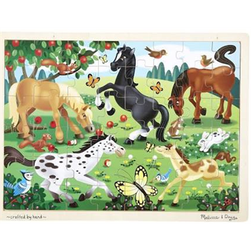 48 Piece Wooden Puzzle Frolicking Horses by Melissa and Doug