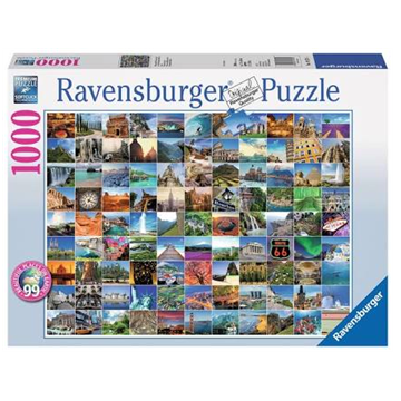 99 Most Beautiful Places 1000 Piece Puzzle by Ravensburger