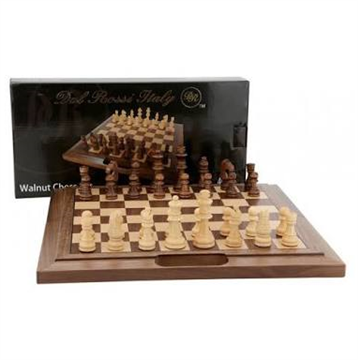30 cm Walnut Folding Chess Set by Dal Rossi L2010DR