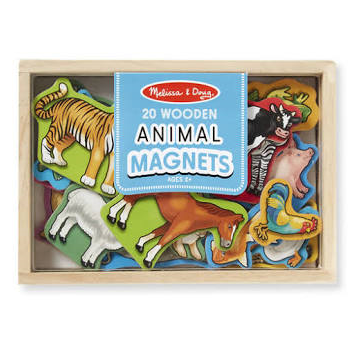 20 Wooden Animal Magnets by Melissa and Doug