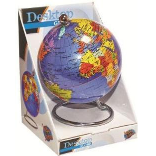 Blue Desk Globe 25cm by Heebie Jeebies