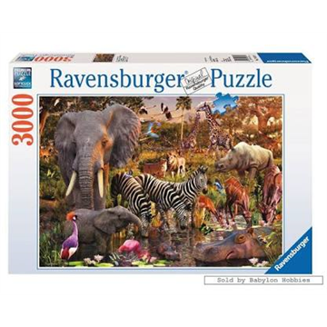 African Animal World Puzzle 3000 Piece Puzzle by Ravensburger