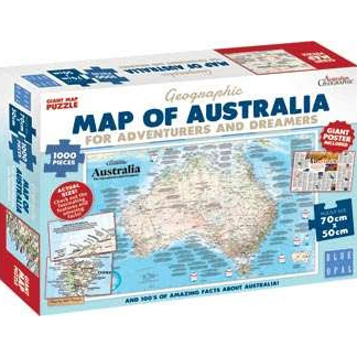 Adventurers and Dreamers Map 1000 Piece Puzzle by Blue Opal