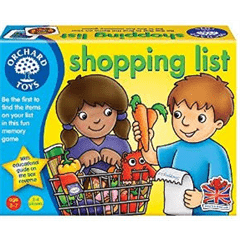 Educational Games Shopping List by Orchard Toys