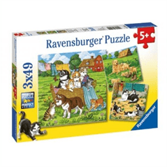 Cats and Dogs 3 x 49 Piece Puzzle by Ravensburger