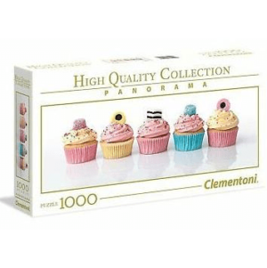 Jigsaw Puzzles 10 - Adult Licorice Cupcakes 1000 Piece Panorama High Quality Collection Puzzle by Clementoni