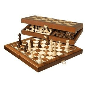Chess Chess Set Wood Magnetic Folding 12 inch 30cm by Philos