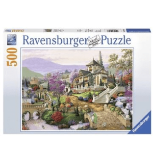 Jigsaw Puzzles 10 - Adult Hillside Retreat 500 Piece Puzzle by Ravensburger